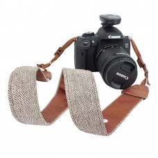 Camera Strap Vintage Cotton Universal Camcorder Camera Shoulder Strap Belt for All DSLR Camera Nikon Canon Sony Pentax Olympus Panasonic Brown
