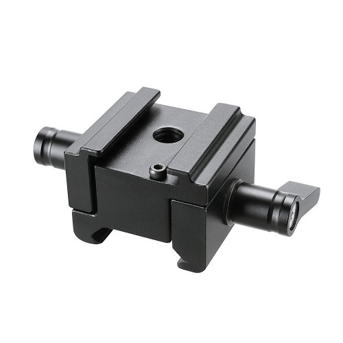 FOTYRIG Hot Shoe Mount Adapter Cold Shoe Mount with Adjustable Nato Clamp for Canon C100/C100 MarkII/C300/C500