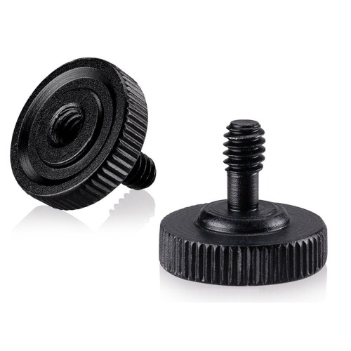 "Quick Release Thumb Screw Tripod L Type Bracket Stand 1/4""Male to 1/4"" Female Screw Adapter Hot Shoe Tripod Adapter For Camera Flash Bracket- 2 Packs"